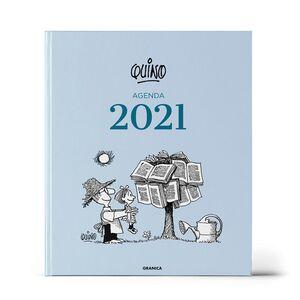 AGENDA 2021 QUINO ENCUADERNADA AZUL CLARO