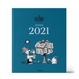 AGENDA 2021 QUINO ENCUADERNADA AZUL OSCURO