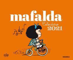 2021 MAFALDA CALENDARIO ESCRITORIO - ANARANJADO (SIN CAJA)