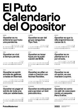 PUTO CALENDARIO DEL OPOSITOR 2022, EL